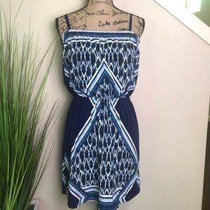 Express dress in shades of blue, beautiful